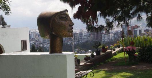 Oswaldo Guayasamin Sculpture - Overlooking Quito Ecuador