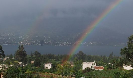 A double rainbow that suggests where to find the hidden gold... but the true gold is in our hearts.
