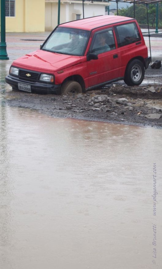 Why one should drive with caution when streets are flooded!