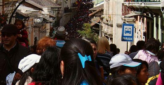 As far as the eye can see  Good Friday in Quito Ecuador