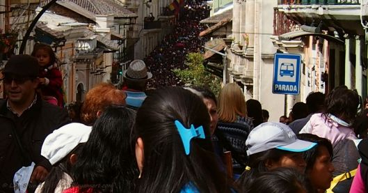 As far as the eye can see  Good Friday in Quito Ecuador