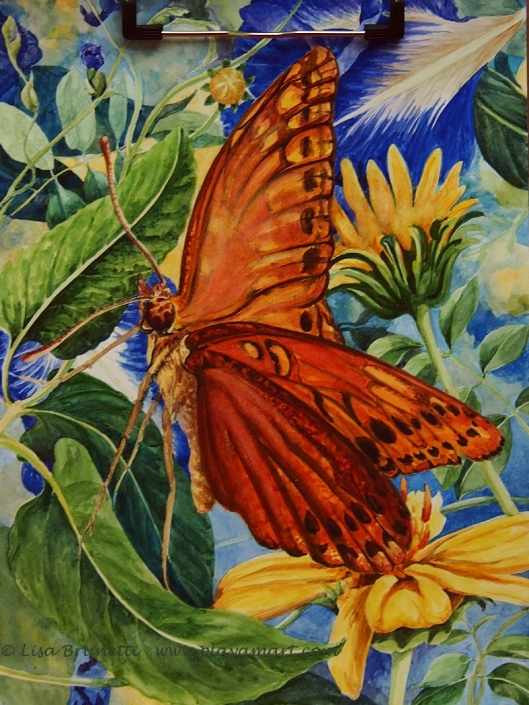 26049325 BUTTERFLY WATERCOLOR MENDING