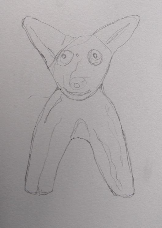 2B151331 museum study pencil dog
