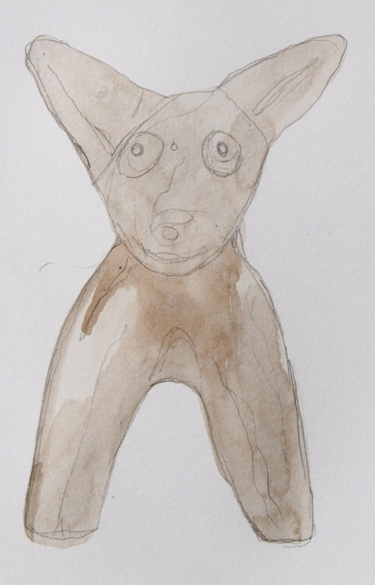 2B151332museum study pencil y wash dog