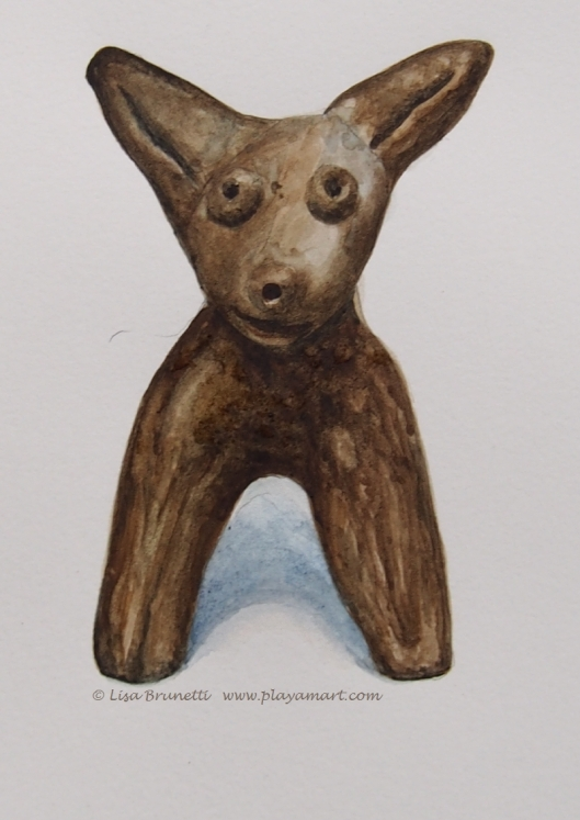2B151346museum study pencil watercolor dog finished artifact