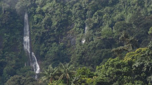 The  waterfalls in the area are quite impressive.  Stay tuned for a story about Barbara's cattle-wrangling talents!