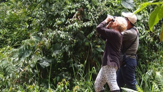 Thanks to a guide's visit to the property, Barb has been officially infected with the birding bug!