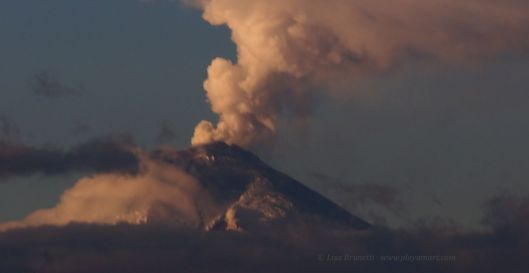 Cotopaxi Volcano started spewing in late September...