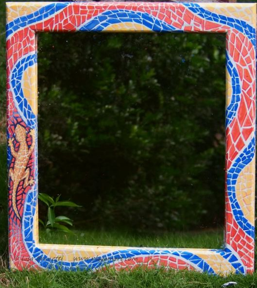 Mosaic Mirror for Palo Santo Cafe - before the earthquake...