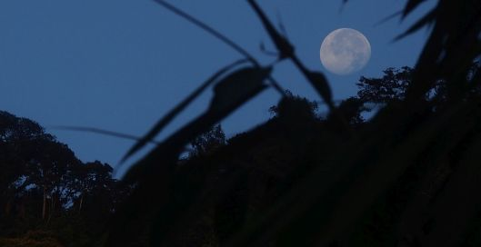 Full Moon Setting over Cinto Ridge (June 2016)