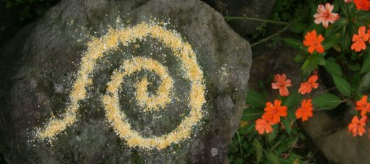 This rock prompts me to draw spirals...