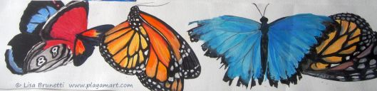 Butterflies - Acrylic in Progress