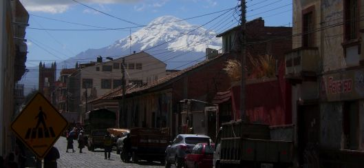 View of Chimborazo from Riobamba Ecuador