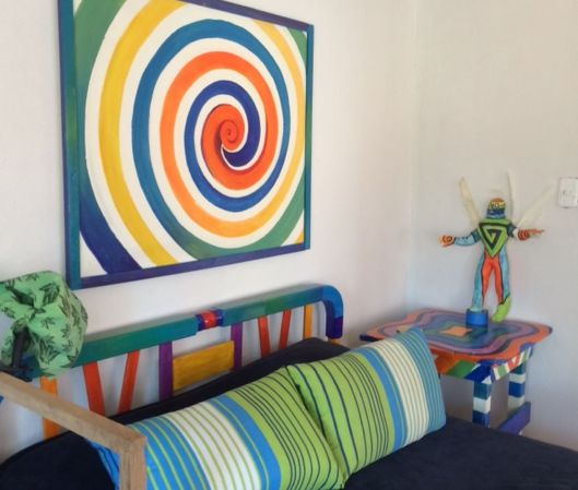 Here's a peek... We painted the headboard first, and all else fell into place!