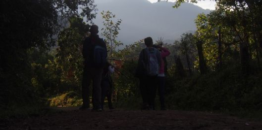 We took a dawn birding walk before attending the lectures...