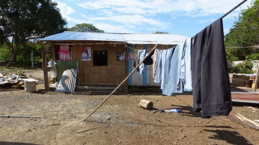 The clothesline led us to a little house in the back of the property.