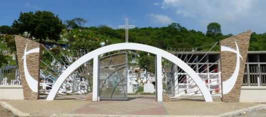 Jama Ecuador Cemetery Entrance