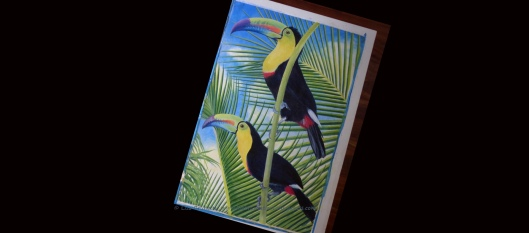 z P1920629 TWO CANS acrylic by lisa brunetti toucan art