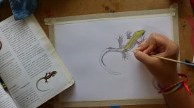 P2440746 daniela painting lizard