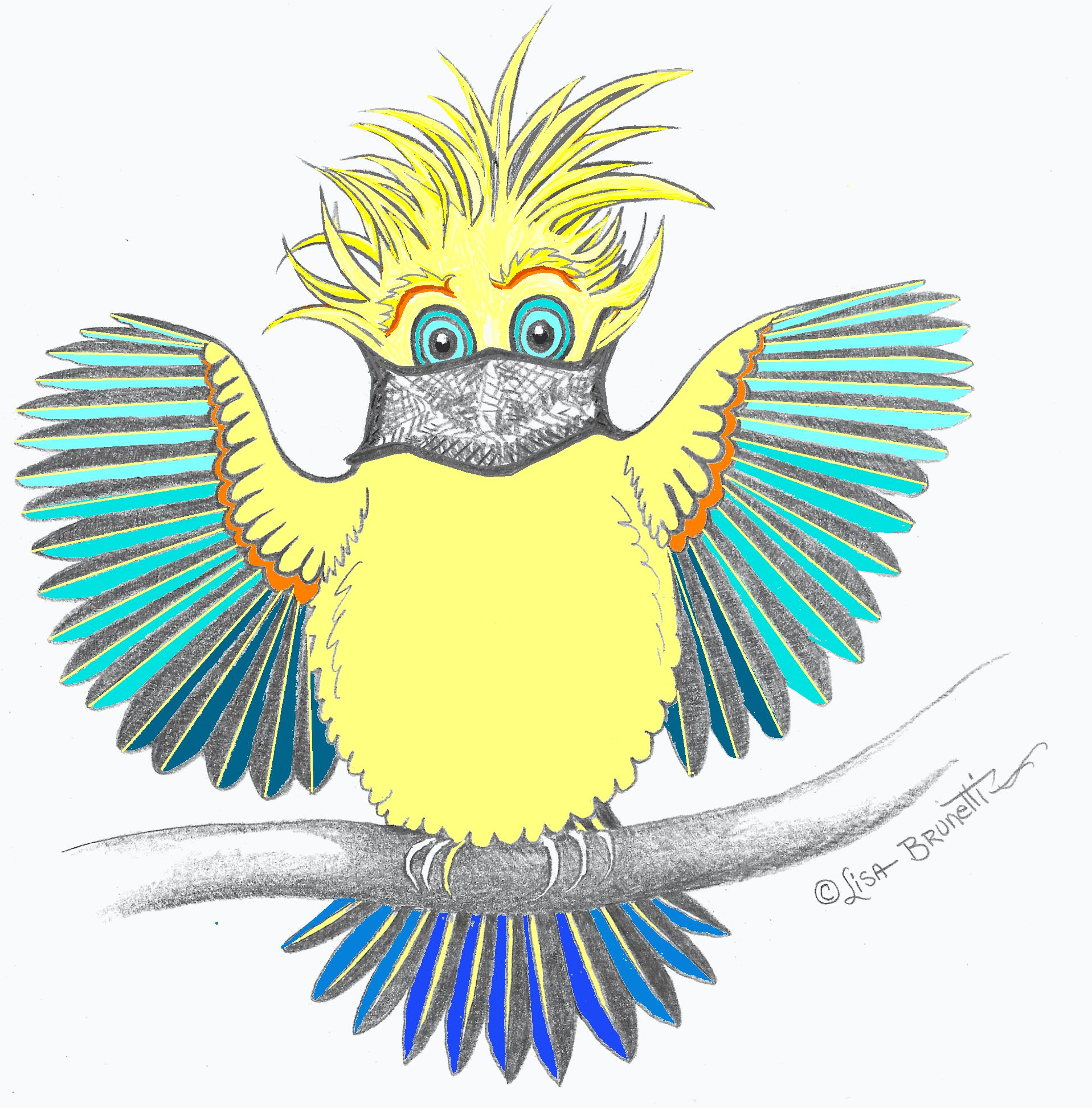 11 FOR POST DAB DAY CORONA MASKED BIRD W COLORS 2